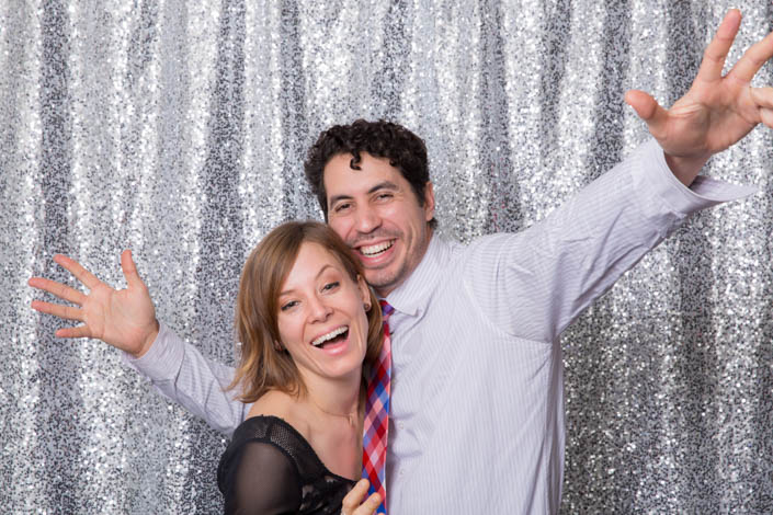 Photo Booth Backdrops - Small Silver Sequin
