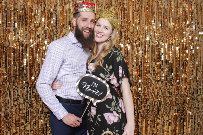 Photo Booth Backdrops - Caramel Gold Sequin