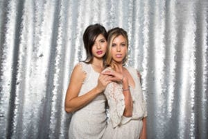 Photo Booth Backdrops - Large Silver Sequin