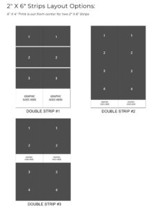 Strips Layout Options - Templates layout and Print Sizes